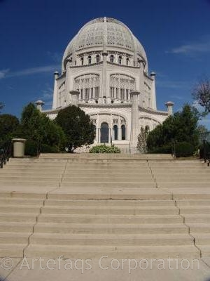 Stock photo of Bahá'i Temple - Wilmette, Illinois