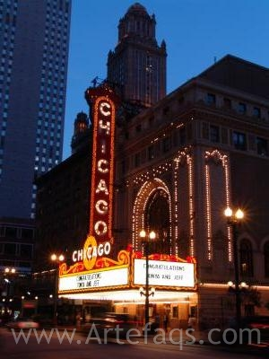 Stock photo of Chicago Theater - Chicago, Illinois