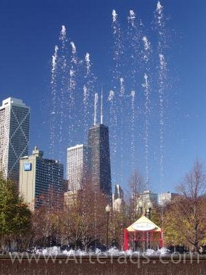 Photograph of Fountain in Chicago, Illinois