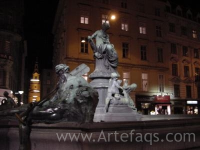 Stock photo of Donner Fountain - Vienna, Austria