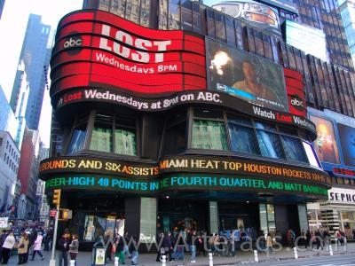 Photograph of ABC television studios at Times Square - New York, New York