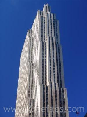 Stock photo of GE Building - New York, New York
