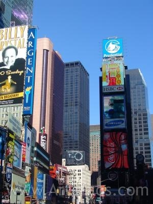Stock photo of Billboards and lights in Times Square - New York, New York