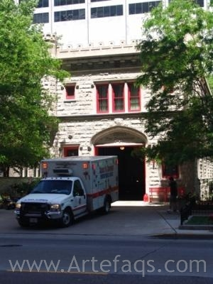 Stock photo of Chicago Fire Station 98 - Chicago, Illinois