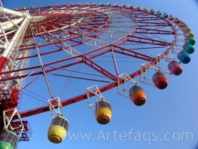 Stock photo of Ferris Wheel - Tokyo, Japan