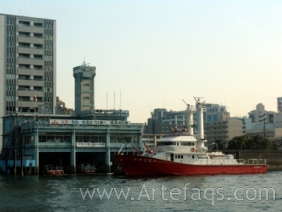 Stock photo of Fire Boat - Tokyo, Japan