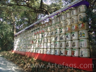 Stock photo of Lanterns - Meiji Shrine - Tokyo, Japan
