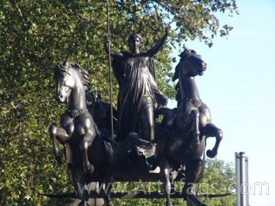 Stock photo of Boudica statue - London, England