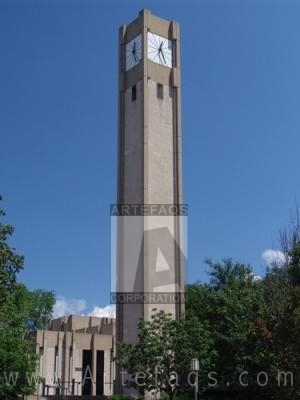Photograph of Northwestern University Rebecca Crown Center Clock Tower - Evanston, Illinois
