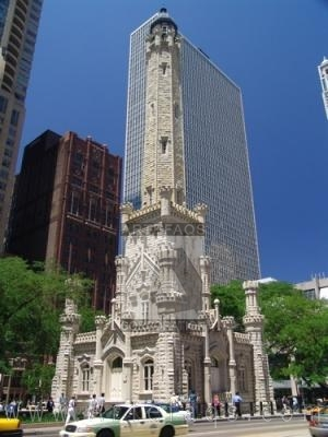 Stock photo of Old Water Tower -  Chicago, Illinois