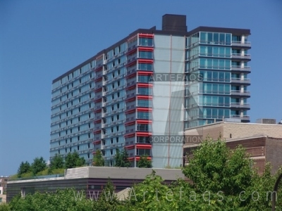 Stock photo of Optima Towers - Evanston, Illinois