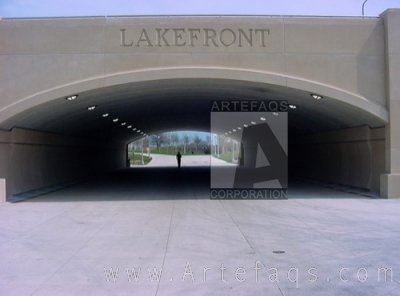 Stock photo of Columbus Drive Underpass at 11th Street - Chicago, Illinois