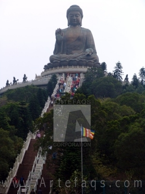 Photograph of Big Buddha - Po Lin Monatery - Ngong Ping, China