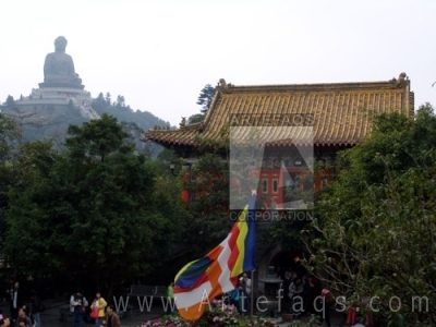 Stock photo of Big Buddha - Po Lin Monatery - Ngong Ping, China