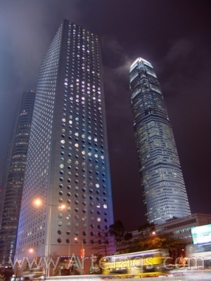 Stock photo of Jardine House and Two ifc - Hong Kong, China