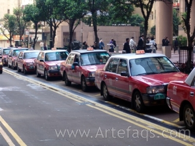 Stock photo of Taxis - Hong Kong, China
