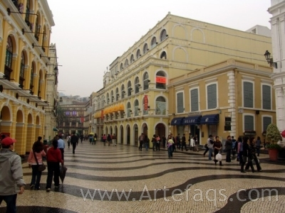 Stock photo of Largo do Senado - Macau, China