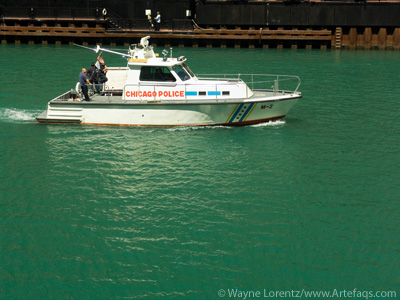Photograph of Police Boat - Chicago, Illinois