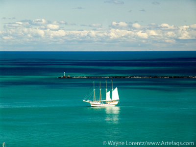 Photograph of Sailing ship - Chicago, Illinois