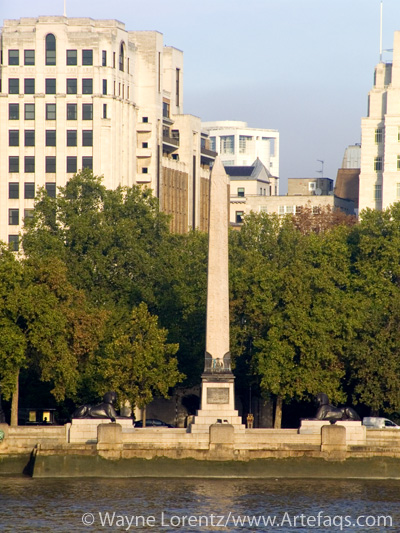Photograph of Cleopatra's Needle - London, England