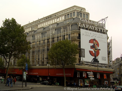 Stock photo of Galleries Lafayette - second building - Paris, France