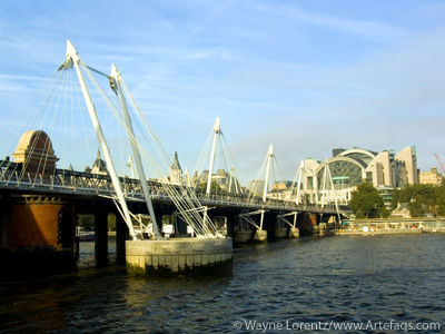 Stock photo of Hungerford Bridge - London, England