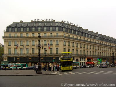 Stock photo of Le Grand Hotel - Paris, France