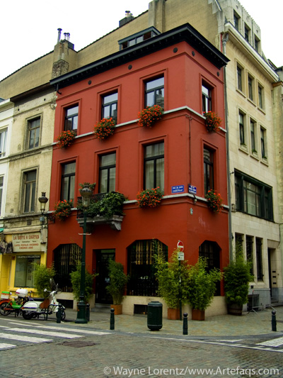 Stock photo of Red house - Brussels, Belgium