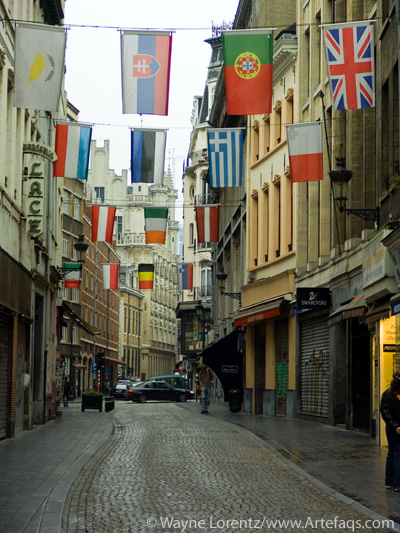 Stock photo of Rue au Beurre - Brussels, Belgium