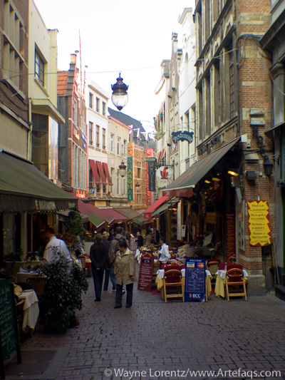 Stock photo of Rue des Bouchers - Brussels, Belgium