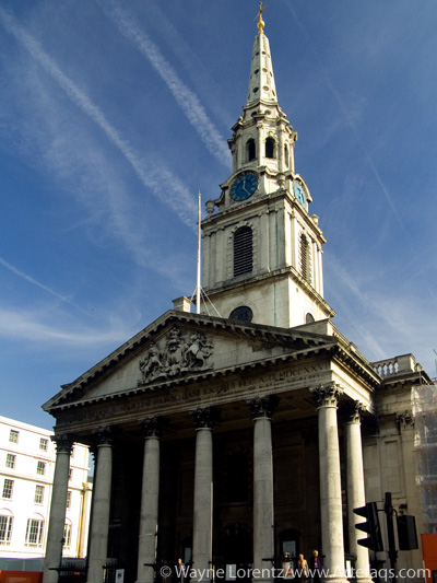 Stock photo of Saint Martin-in-the-Fields - London, England
