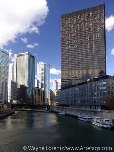 Stock photo of One I.B.M. Plaza - Chicago, Illinois