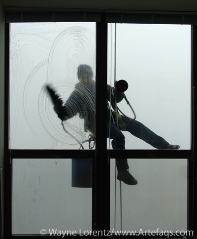 Stock photo of Window washer - Chicago, Illinois