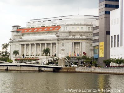 Stock photo of Fullerton Hotel - Singapore