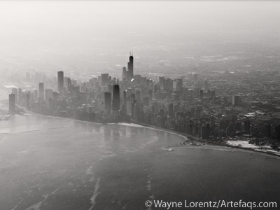 Stock photo of Aerial view of Chicago, Illinois