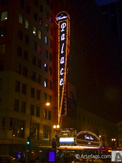 Stock photo of Cadillac Palace Theater - Chicago, Illinois
