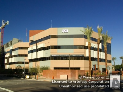 Photograph of Arizona State University - Nursing and Healthcare Innovation building - Phoenix, Arizona