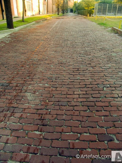 Photograph of Cobblestone alley  - Houston, Texas