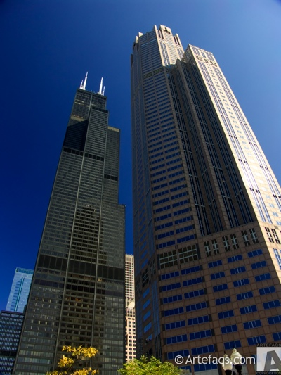 Stock photo of Willis Tower and 311 South Wacker - Chicago, Illinois