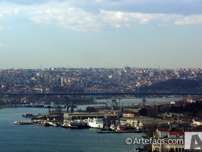 Photograph of Ataturk Bridge (Ataturk Koprusu) - Istanbul, Turkey