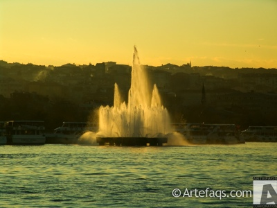Stock photo of Golden Horn fountain - Istanbul, Turkey