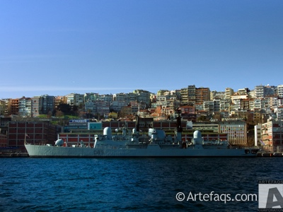 Photograph of HMS Exeter - Istanbul, Turkey