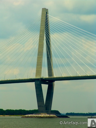 Stock photo of Arthur Ravenel Junior Bridge - Charleston, South Carolina