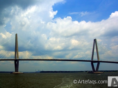 Photograph of Arthur Ravenel Junior Bridge - Charleston, South Carolina
