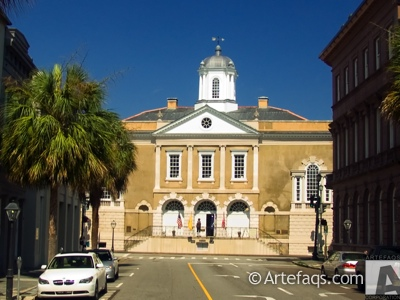 Stock photo of Exchange and Provost Building  - Charleston, South Carolina
