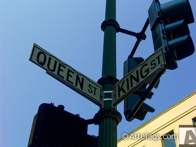 Photograph of Intersection of Queen Street and King Street  - Charleston, South Carolina