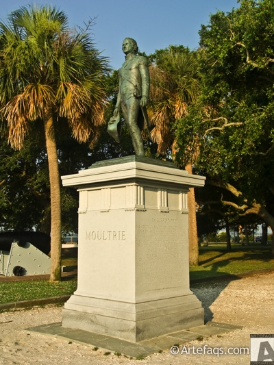 Photograph of Moultrie monument  - Charleston, South Carolina