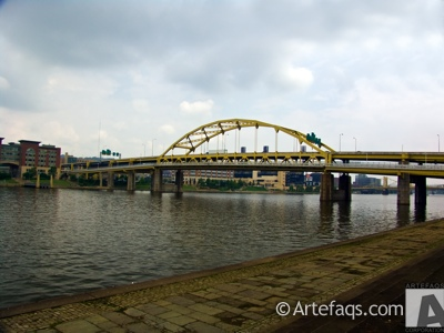 Stock photo of Fort Duquesne Bridge - Pittsburgh, Pennsylvania