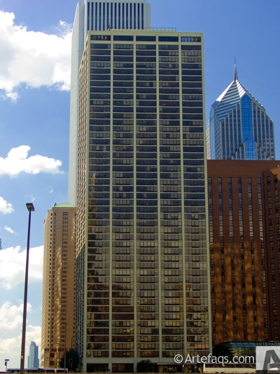 Stock photo of Columbus Plaza - Chicago, Illinois -
