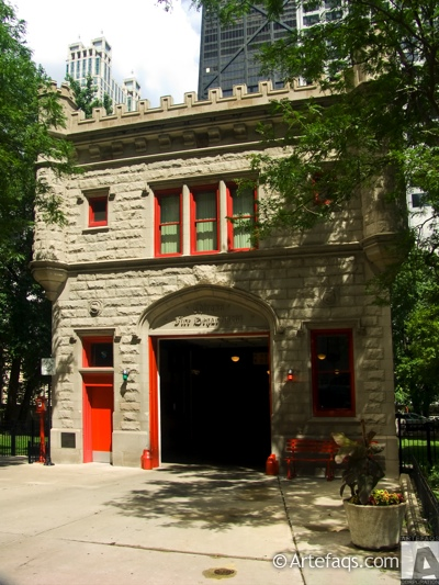 Photograph of Engine Company 99 Firehouse - Chicago, Illinois -